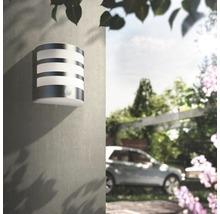Applique LED pour mur extérieur avec détecteur de mouvement 1x3,5W acier inoxydable/blanc-thumb-4