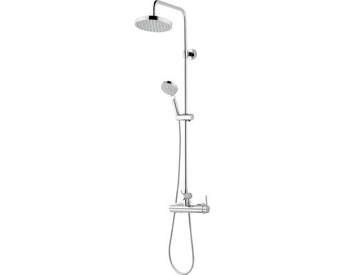 Duschsystem Schulte Modern DuschMaster Rain III D969261 02 chrom mit Einhebelmischer