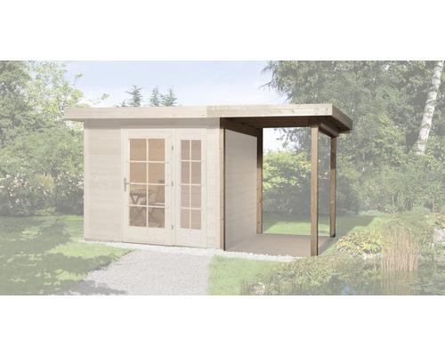 Toit en appentis weka pour abri de jardin Panorama taille2 150x299x220cm, nature