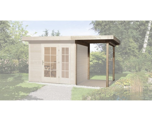 Toit en appentis weka pour abri de jardin Panorama taille1 150x239x220cm, nature