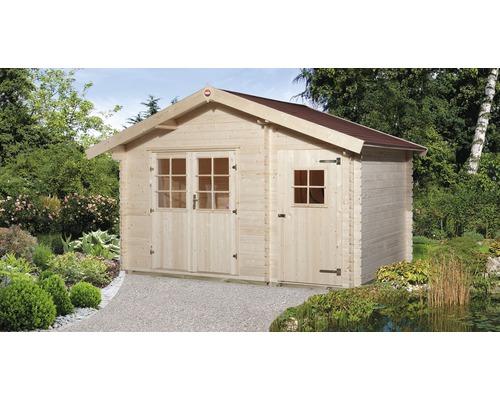 Abri de jardin weka 253 taille2 avec plancher, 370x250cm, nature