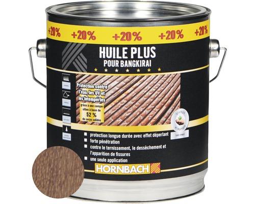 Huile pour bois de bangkirai Plus 3L (20% gratuit!)