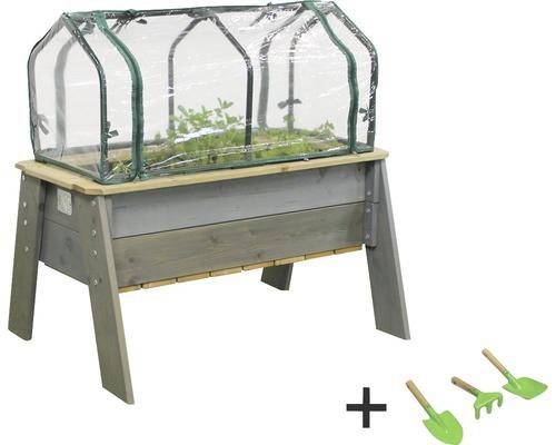Jardinière surélevée EXIT Aksent bois Taille L avec couvercle, outil de jardin