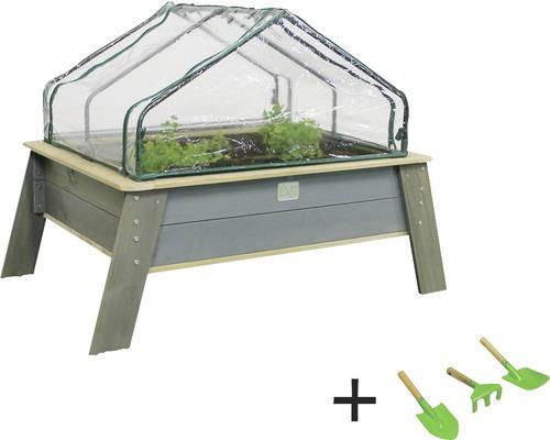 Jardinière surélevée EXIT Aksent bois Taille XL avec couvercle, outil de jardin
