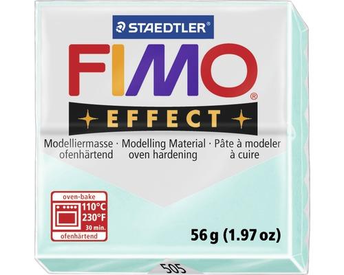 Pâte à modeler FIMO Effect 57 g menthe transparente / perle
