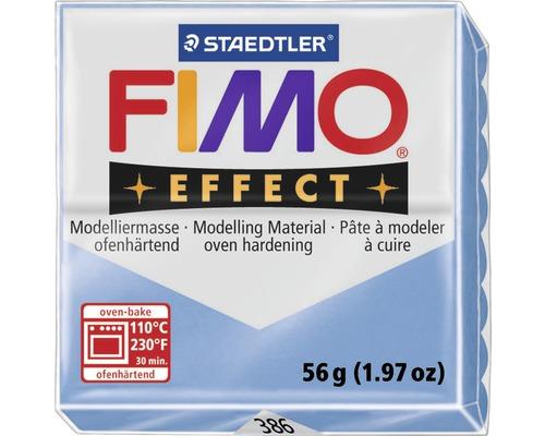 Pâte à modeler FIMO Effect 57 g agate bleu transparent