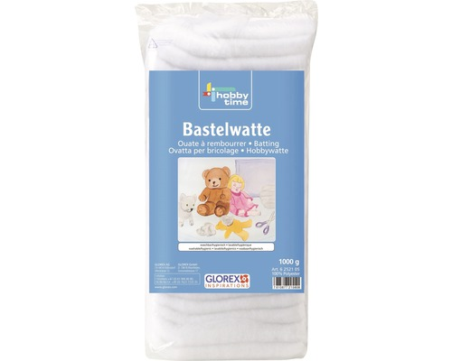 Ouate à rembourrer hobby time 1000 g blanc