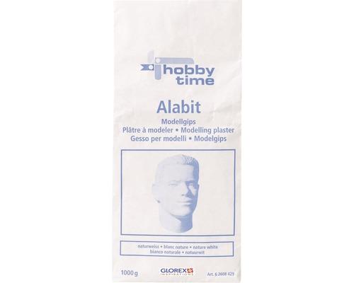 Masse à couler plâtre de modelage Alabit 1 kg blanc