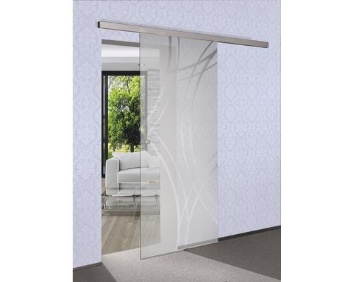 Vantail de porte coulissante en verre Pertura Tangente 920 x 2050 x 8 mm pour ferrure Selir à droite