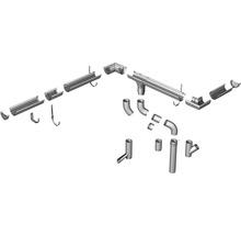 Coude pour tuyau de descente Marley plastique rond 45° degrés blanc de signalisation RAL 9016 DN 105 mm-thumb-2