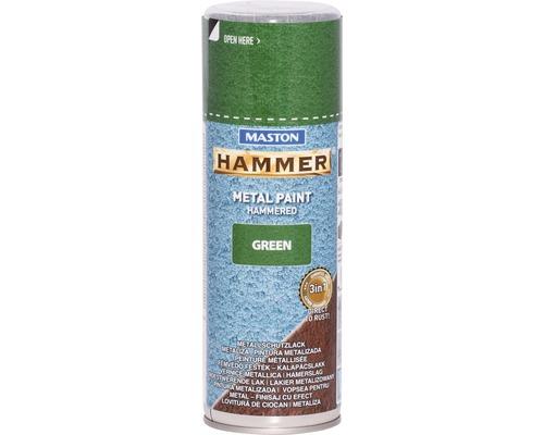Spray de protection pour métaux Maston Hammer vert 400 ml