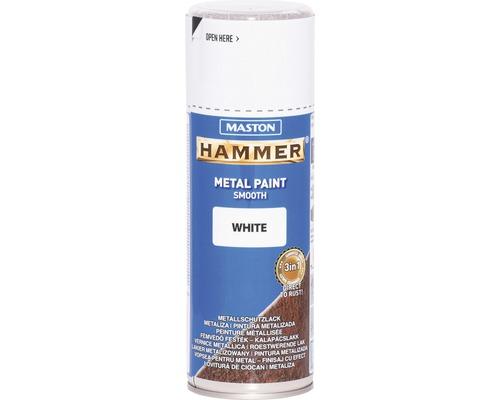 Spray de protection pour métaux Maston Hammer lisse blanc 400 ml