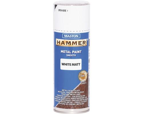 Spray de protection pour métaux Maston Hammer mat blanc 400 ml