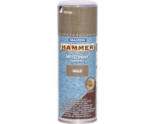 Spray de protection pour métaux Maston Hammer or 400 ml