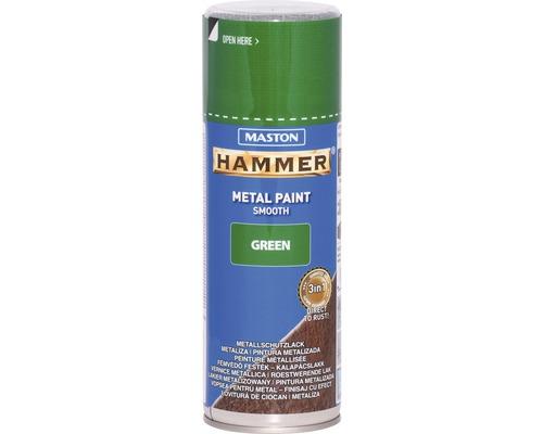 Spray de protection pour métaux Maston Hammer lisse vert 400 ml
