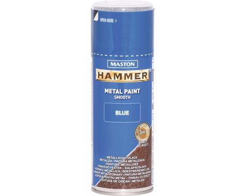 Spray de protection pour métaux Maston Hammer lisse bleu 400 ml