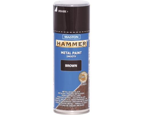 Spray de protection pour métaux Maston Hammer lisse marron 400 ml