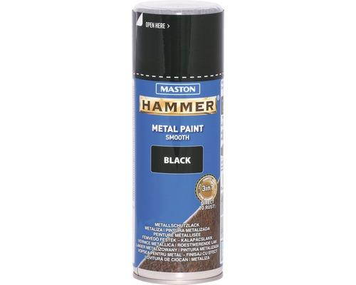 Spray de protection pour métaux Maston Hammer lisse noir 400 ml