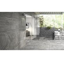 Carrelage pour sol en grès cérame fin Portman gris 32x62,5cm-thumb-1