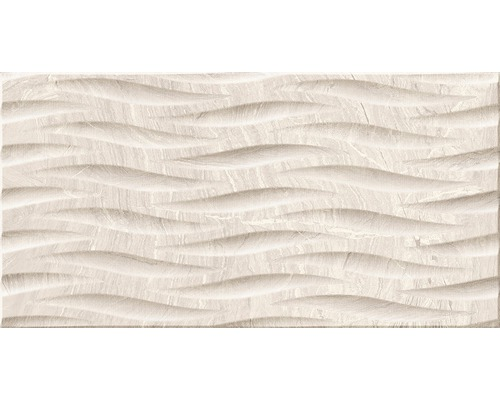 Carrelage décoratif en grès cérame fin Varana Almond 32x62,5cm