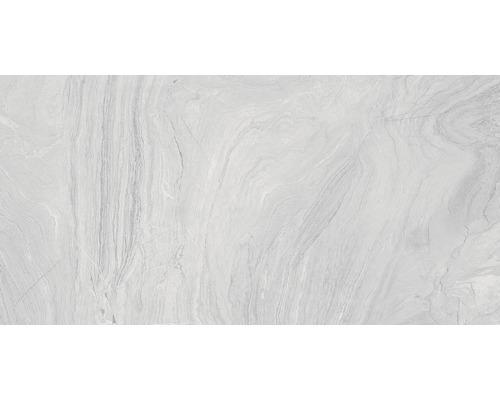 Carrelage pour sol en grès cérame fin Varana gris 45x90cm-0