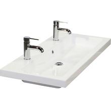 Kit de meubles de salles de bain Seville 120x195cm blanc haute brillance-thumb-1
