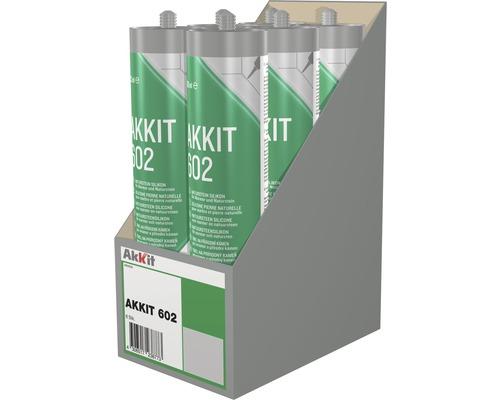 Akkit 602 Naturstein Silikon grau 310 ml