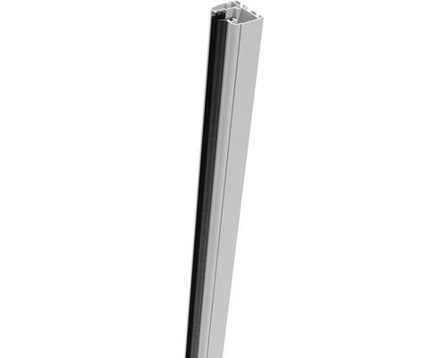 Rail de serrage Belfort à droite 181cm, argent-blanc
