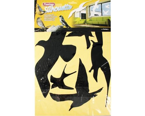 Autocollant silhouettes d''oiseaux 5 pièces