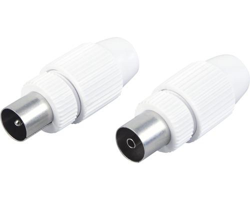 Kit pour fiche coaxiale fiche/connecteur 2 pièces Schwaiger KST1121532