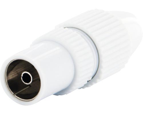 Connecteur coaxial quickFIX blanc Schwaiger KST21532