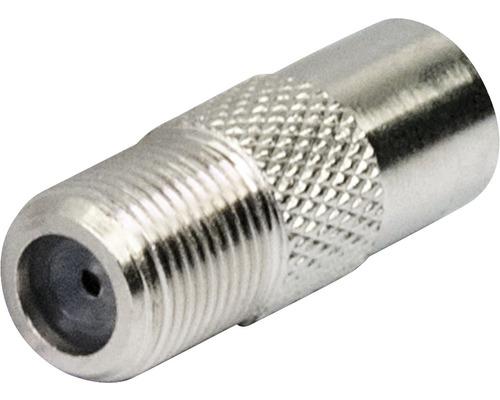 Adaptateur connecteur F/fiche IEC argent Schwaiger UEST9330531