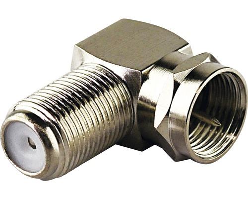 Adaptateur coudé F fiche F/connecteur F 2 pièces Schwaiger WAD8321531