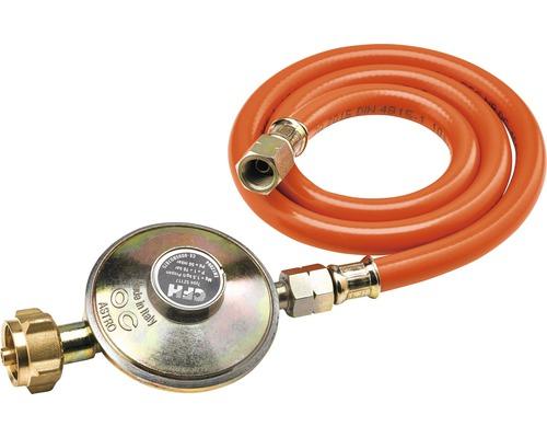Régulateur de pression CFH 50 mbar et tuyau de gaz 80 cm