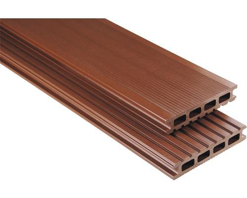 Lame de plancher Konsta WPC Primera marron lisse 26x145x3500mm