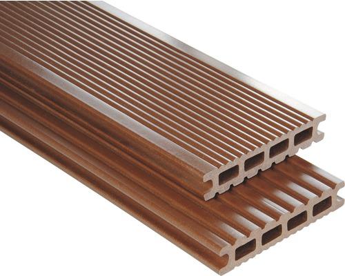 Lame de plancher Konsta WPC Futura brun lisse 26x145x3500mm