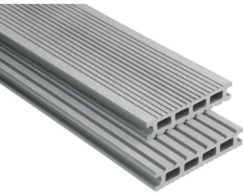 Lame de plancher Konsta WPC Futura gris brossé 26x145x3500mm