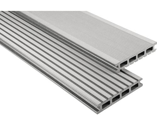 Lame de plancher Konsta WPC Primera gris brossé 26x145x3500mm