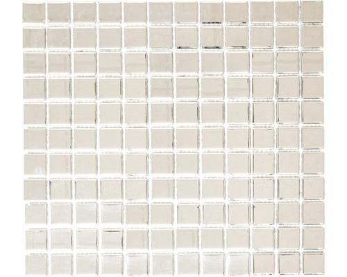 Mosaïque de verre CM 4S B2 mix argent 30,5x32,5 cm