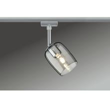 Spot URail Paulmann 1 ampoule Blossom chrome/mat verre fumé 230V-thumb-0