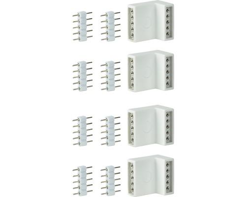 Connecteur d''angle MaxLED 4/8 pièces blanc 24V
