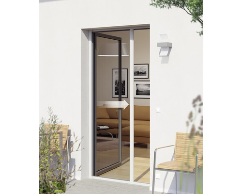 Store Moustiquaire Pour Porte PLUS Blanc Sur Mesure Max X Cm - Moustiquaire pour porte