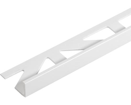 Profilé d''angle de finition Dural Durosol PVC longueur 250 cm hauteur 12,5 mm