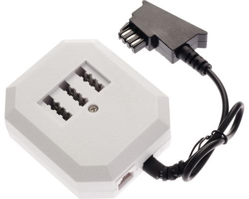 Adaptateur de table prise TAE-F/douilles TAE-NFN/1x douille RJ11(6p4c) Bleil 35761