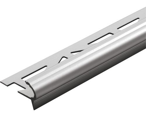 Treppenstufenprofil Dural Florentostep Aluminium Titan Länge 100 cm Höhe 9 mm