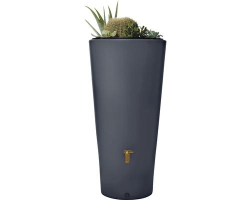 Réservoir d''eau de pluie Vaso 2in1 avec bac à plantes, gris