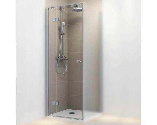 Porte pivotante pour paroi latérale Schulte MasterClass 80 cm butée à gauche verre transparent couleur du profilé chrome