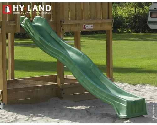 Toboggan HY-LAND plastique 305cm vert