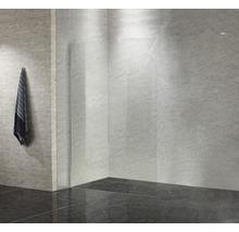 Paroi latérale pour douche à l''italienne basano Modena 800 verre véritable transparent clair aspect chrome-thumb-5
