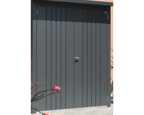 Pack portes biohort WoodStock 230, 138x172.5 cm gris foncé-métallisé